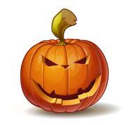 Scary Pumpkins Smiling - stock illustration