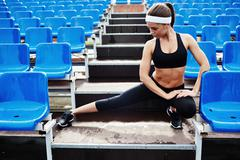 Stretching legs Stock Photos