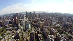 Aerial view over downtown Montreal Stock Footage