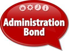 Administration Bond Business term speech bubble illustration Stock Illustration