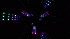 VJ Loops 04: Colorful Led Cosmos Stock Footage