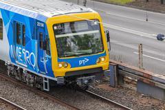 Train in Melbourne, Australia - stock photo