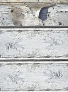 Flaking white paint Stock Photos