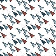 Colored triangular  pattern on white - stock illustration