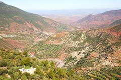Stock Photo of dades valley in atlas street