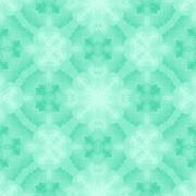 Seamless mosaic pattern or background in green - stock illustration