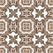 Seamless ornate texture or pattern in brown - stock illustration