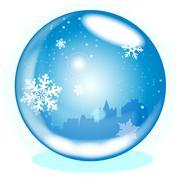 Winter Scene - stock illustration