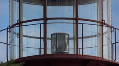 Lighthouse Tower - 04 - Spinning Lamp Lenses - Close-up - stock footage