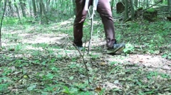Hikers Walking in the Woods V1 Stock Footage