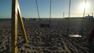Stock Video Footage of Swings in sunset