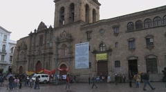 San Francisco Church in La Paz, Bolivia Stock Footage