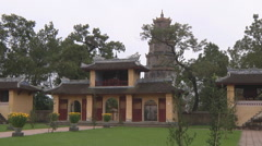 Monastery and the tower in Ho Chi Minh City, North Vietnam Stock Footage