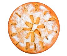 Apple pie isolated on white background Stock Photos