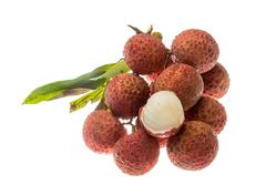 Asian fruit lychee - stock photo