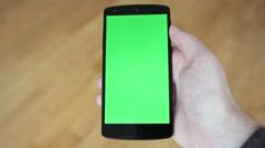 Stock Video Footage of greenscreen android shakey singletap