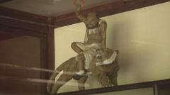 Creepy statue in Ho Chi Minh City, North Vietnam - stock footage