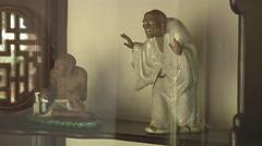 Creepy statue in Ho Chi Minh City, North Vietnam Stock Footage