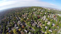 Stock Video Footage of Aerial view over residential Outremont in Montreal