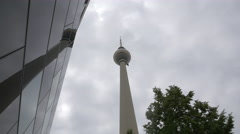 The amazing Berlin TV Tower Stock Footage