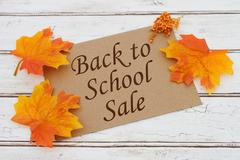 Back to School Sale Card Stock Photos