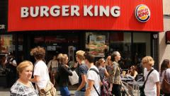 Burger King fast food in London Stock Footage