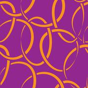 seamless wallpaper with intertwined rings - stock illustration