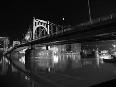 Pittsburgh Bridge at Night - stock photo