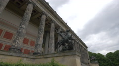 Statues in front of Altes Museum, Berlin Stock Footage