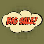 "Stock Illustration of Speech Bubble in Pop-Art Style, with message "" BIG SALE"""