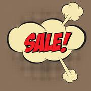 """Speech Bubble in Pop-Art Style, with message """" SALE"""" - stock illustration"""