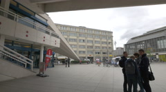 Visiting the Berliner Fernsehturm Stock Footage