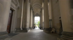 The imposing architecture and columns of Berliner Dom Stock Footage