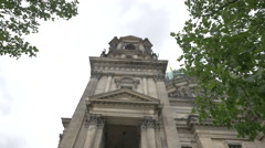 The entrance of Berliner Dom Stock Footage