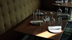 Restaurant Booth Seating Stock Footage