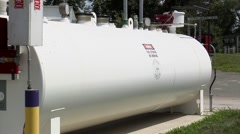 Giant propane tank - stock footage
