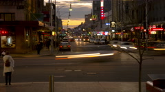 A 4k long shot of Rundle Mall Crossing in Adelaide Stock Footage