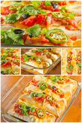Stock Photo of Enchilada Casserole Collage