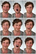 Real Person Facial expressions - stock photo