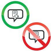 Stock Illustration of Good document message permission signs