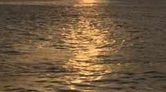 Setting Sun on Seawater, Old Portsmouth Harbour, Hampshire Stock Footage