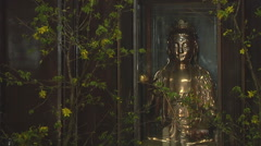 Monastery altar  in Ho Chi Minh City, North Vietnam - stock footage