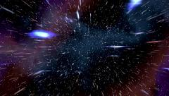 Space warp speed hyperspace travel through starfield nebula 4K Stock Footage