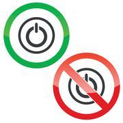 Power permission signs - stock illustration