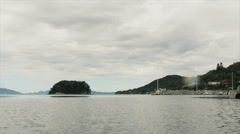 West Coast of Norway floating over the sea Stock Footage