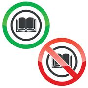 Stock Illustration of Book permission signs