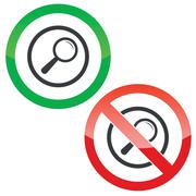 Stock Illustration of Search permission signs