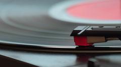 Turning Vinyl Record Turntable Stock Footage