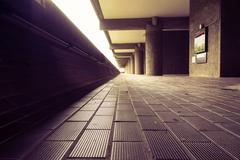 Barbican floor - stock photo