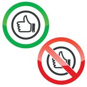 Stock Illustration of Like permission signs